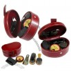 5-Piece Shoe Polish Kit in Red Simulated Leather Case
