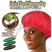Coconut Oil Treated Satin Lined Shower Cap