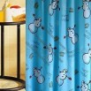 Snowman Design Bathroom Curtain