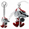 Dingya Crystal Decorated Snoopy Design Alloy Keychain