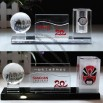 Crystal Pen Holder and Name Card Holder wth Globe and Clock