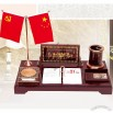 Desk Gift Set with Calendar, Notes, Double Flag Stand, Pen Holder, Traditional Chinese Painting Decorative