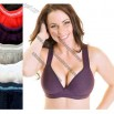 Sport bra made of 92% cotton and 8% spandex