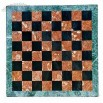 Marble Chess Board, Black and Red Squares, Green Frame