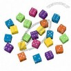 DIY Dice Plastic Beads, Made of Resin, Ideal for Jewelry, Cloth and Toys