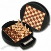 Round Chess Set, Includes 32pcs of Chessmen, with Light and Dark Colors