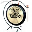 Gong set, set of three, includes stand and mallet, 14