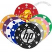 Casino style poker chips with dice design. 11.5 Grams