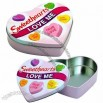 Personalized Gift Tin Box in Heart Shape