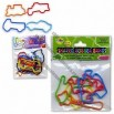 Shaped Rubber Band, Includes 6 Different