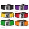 Silicone Medical Qr ID Bracelet with Engraved Laser on The Metal Clip