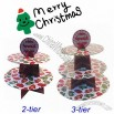 Merry Christmas Decoration Disposable Cup Cake Stand