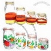 Four-piece Glass Storage Jar Set with Glass Lid and Metal Clip
