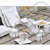 Ceramic Tableware Set for Hotelware, Restaurant Serving and Home Dinner, 16 Pieces, White Porcelain