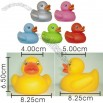 Colorful Baby Bath Duck Toy
