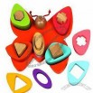 Wooden Building Butterfly Toys, Comes In Different Shape Of Blocks