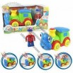 B/O Funny Train Toy Car with Figurine, Touchsensitive