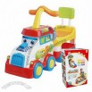 Baby car-shaped ride-on walker car with potty, music