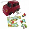 Wind-up Fashion Car, Can Run on Paper Puzzle Cards