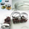 Transparent Storage Jar with Stainless Steel Lid