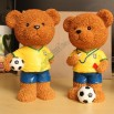 Teddy Bear World Cup Theme Money Bank