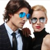 Unisex Color Film Reflective Sunglasses