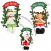 Swing elk, snowman and Santa Claus
