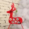 Wooden Christmas Deer Ornaments