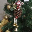 Christmas Pinecone and Bell Ornaments