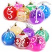 Translucent Colored Christmas Balls