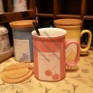 Personalized Ceramics Mug with Wooden Lid and Spoon