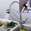 Kitchen Pulling Sink Vegetables Basin Hot/Cold Faucet Water Taps