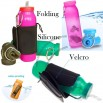 Scrunchable 22oz Silicone Collapsible Water Bottle