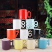 Novelty Number Handle Mug