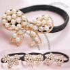 Fashion Alloy Butterfly Hair Bands With Imitation Pearl