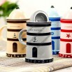 Novelty Tower Shaped Porcelain Ceramic Coffee Milk Mug