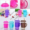 Color Glass Straw Cup
