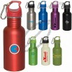 17oz. Banff Stainless Steel Water Bottle with Carabiner