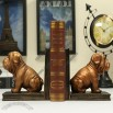Bronze Pug Dog Bookend