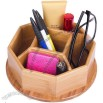 Bamboo Wooden Rotation Office Supplies Storage Container