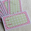 10 Candy Cane and Polka Dot Adhesive Gift Tags