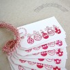 10 Large Ornament Tags