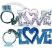 Assorted colors love picture frame key chain