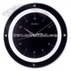Black dial wall clock