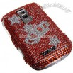 BlackBerry 9000 Crown Pattern Rhinestone Style Plastic Hard Back Cover