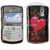 BlackBerry Curve Carbon Fiber Heart Crystal Case