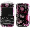 BlackBerry Onyx 9700 Pink Butterfly Designed Crystal Case
