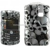 Blackberry 8300 Black Skull Crystal Case