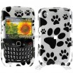 Blackberry Curve 8520 Dog Paws White Case