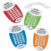 Brightly colored dual power 8-digit pocket calculator